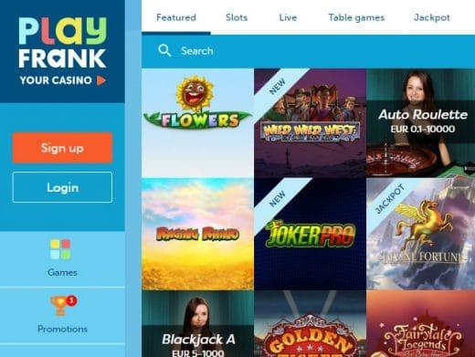 PlayFrank online casino