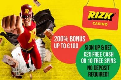 RIZK Casino Review + No deposit bonus