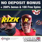 Rizk casino welcome bonus & no deposit bonus