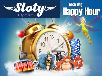 Sloty Casino - Elke dag happy hour!