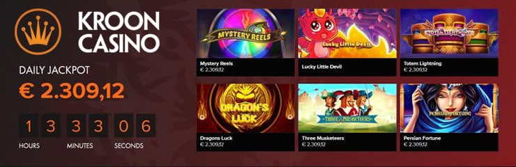 Kroon Casino - Daily jackpot
