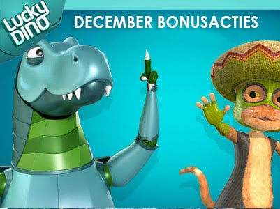Extra bonus in december bij Lucky Dino casino