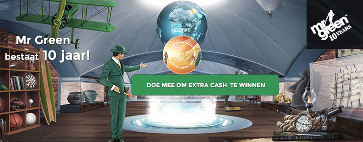 Mr Green - Win extra cash en een sportauto