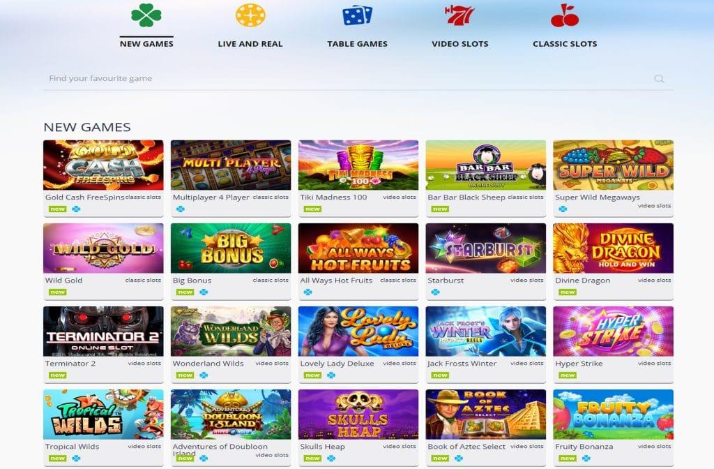 游戏选择 Turbo Casino 提供许多小时的乐趣