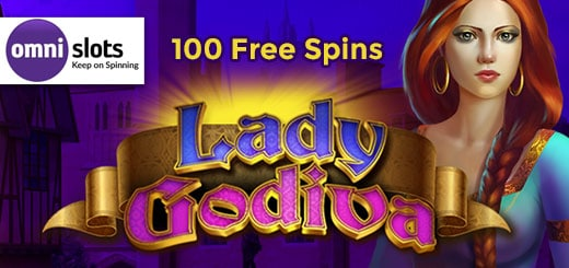 Claim 100 free spins on Lady Godiva