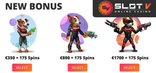 Se den nye bonus, du kan vælge fra SlotV