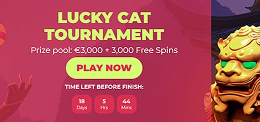 Lucky Cat -turnaus janurai. Pääpalkinto 1000 €