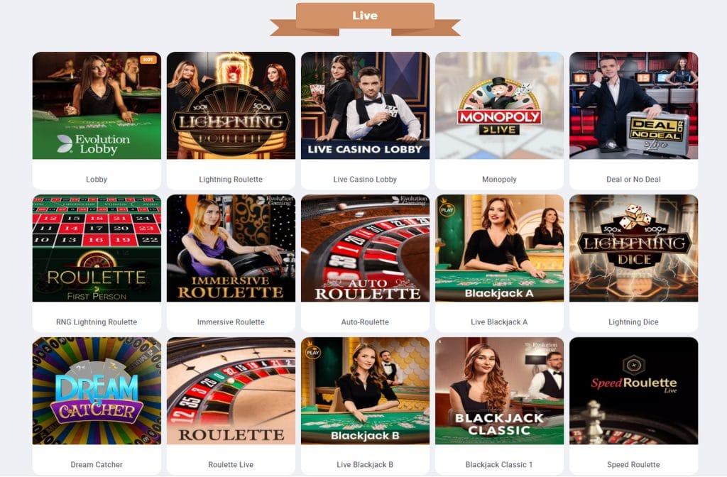 Neem ook zeker eens een kijkje in het Live Casino