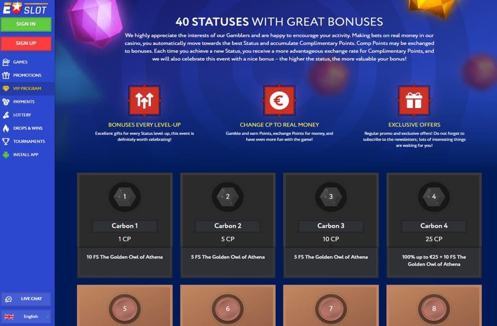 Er is een VIP Programma aanwezig met mooie bonussen