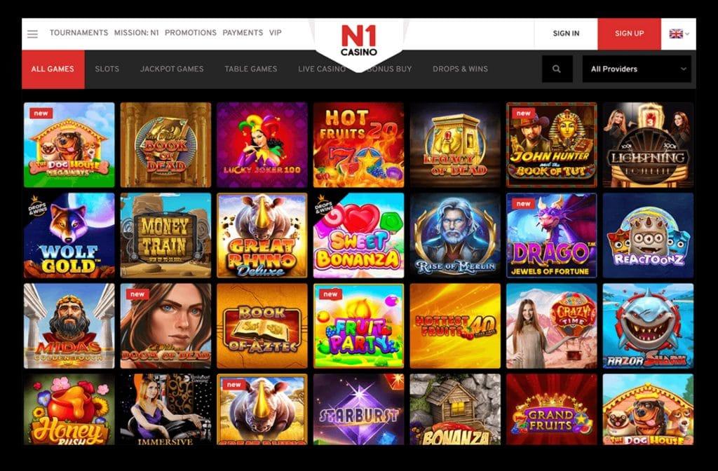 Bij N1 Casino heb je een ruime keuze in het spelaanbod