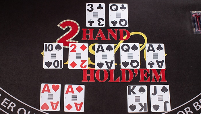 speeltafel double hand poker