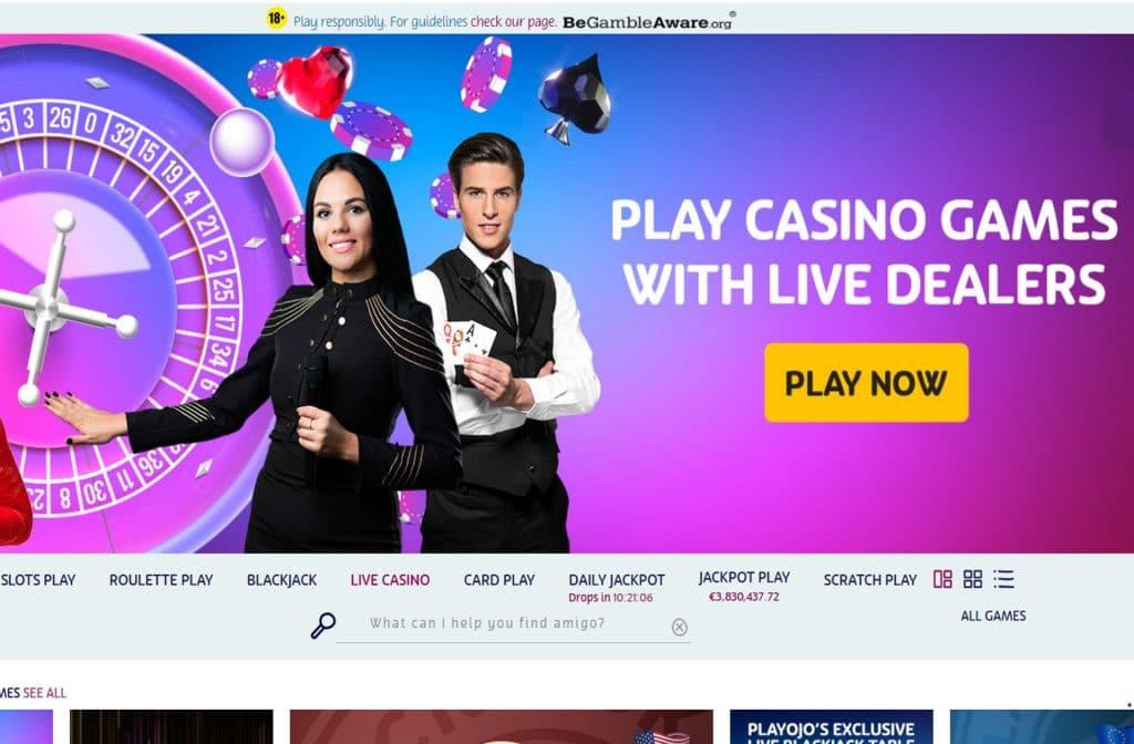 PlayOJO Live dealer spellen